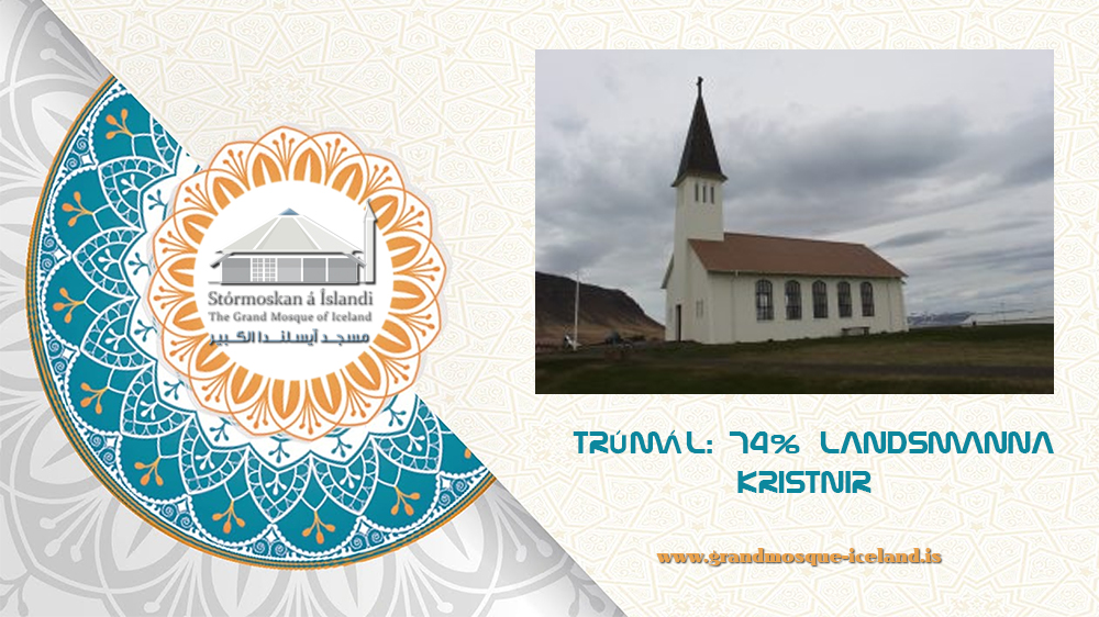 TRÚMÁL: 74% LANDSMANNA KRISTNIR